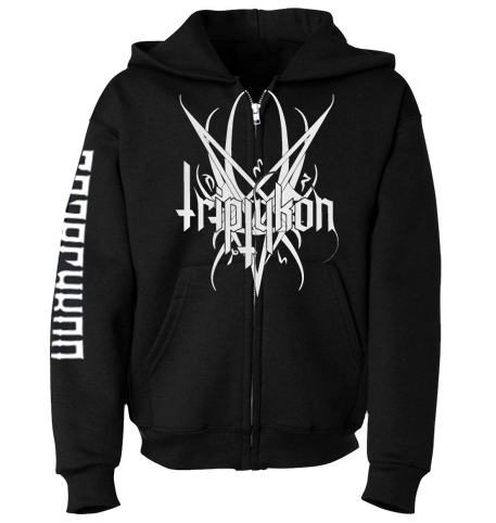 Triptykon `Winged Pentagram Logo` Zipper